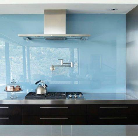 küchenrückwand aus glas küchenrückwand plexiglas hellblau Küche - küchenrückwand aus plexiglas