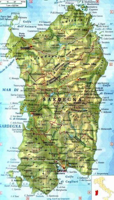 Cartina Di San Teodoro Sardegna.Cartina Della Sardegna Sardegna Sardegna Italia Geografia