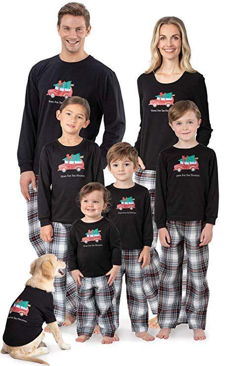 a8f6affd44 PajamaGram Christmas Family Pajamas Flannel - Plaid, Red/Black, Women's,  XS, 2-4