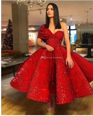 Prom Dresses 2019 Formal Evening Party Pageant Gowns African Backless One Shoulder Yousef Aljasmi Dubai Arbic Sequins Lace Ball Gown Cheap From Beautyday 156 Red Prom Dress Ball Gowns Prom Gowns Dresses