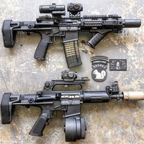 Double Pew Pew from Xproducts. Weapons Guns, Guns And Ammo, Airsoft, Ar 15 Builds, Custom Guns, Custom Ar, Fire Powers, Home Defense, Assault Rifle