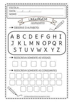 Atividades Alfabeto Vogais E Consoantes Consoantes E Vogais