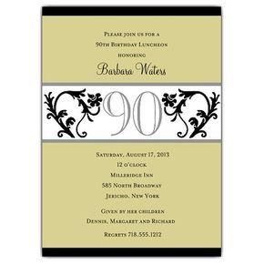 90 years birthday invitation templates