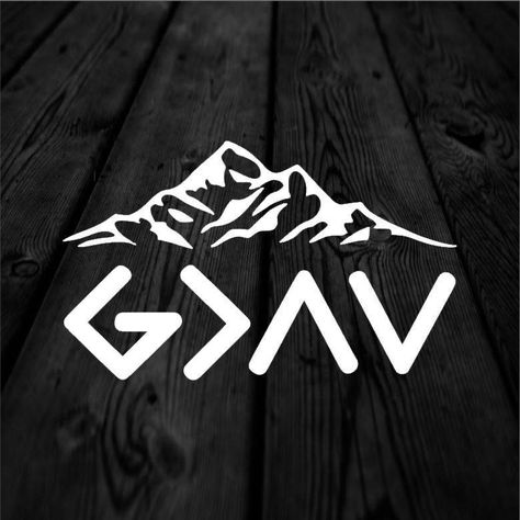 God is Greater than the Highs and the Lows with Mountains Decal | Jesus Christ is Greater Symbols Decal | Car Decal | Car Sticker | 193 by AndersonEngravings on Etsy