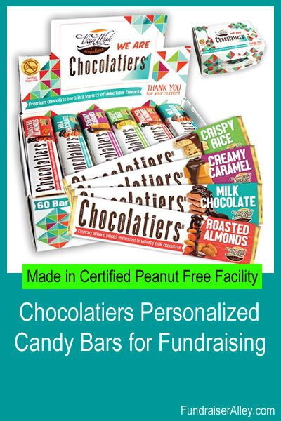 Chocolatiers Personalized Candy Bars For Fundraising Personalized Candy Bars Personalized Candy Winter Fundraising Ideas