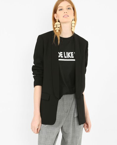 incredible prices best sneakers best value Veste blazer noir | Shopping | Jackets, Adidas jacket ...