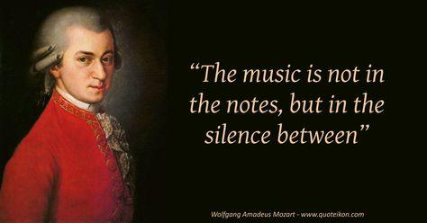 Enjoy fifteen of the best Wolfgang Amadeus Mozart quotes at Quoteikon and read the mini bio about this famous Salzburg born classical composer