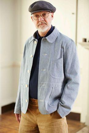 Old town clothing, old man fashion, work jackets, workwear fashion, tan p.