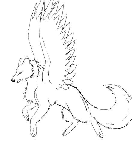 10 Pics Of Dragon Winged Wolf Coloring Pages Cool Anime Wolf Anime Wolf Drawing Wolf Drawing Easy Wolf Drawing