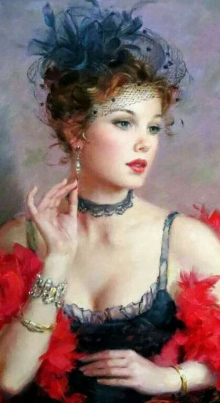 59 ideas for painting woman red beautiful