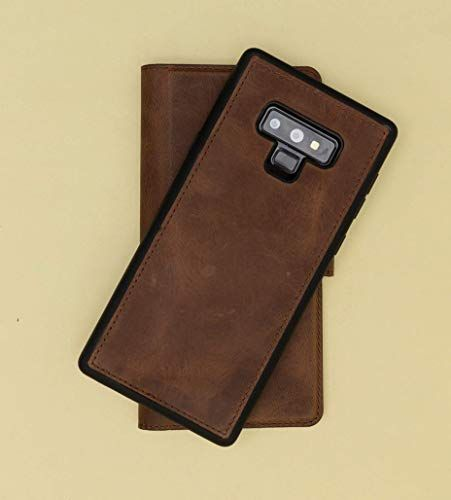 8bd7c737bad4 Galaxy Note 9 Leather Case Magnethic Detachable Genuine Leather ...