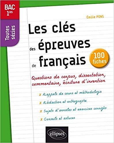 Telecharger Les Cles Des Epreuves De Francais Bac 1res Toutes Series 100 Fiches Livre Gratuit Pdf E Good Books This Book Books
