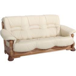 3 Sitzer Beige Nappaleder Eiche Massiv Gestell Roller Thriftedhomedecor Thriftedhomedecorideas In 2020 Leather Sofa Furniture Makeover Diy Furniture Makeover