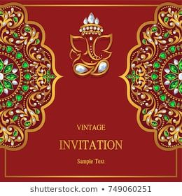 Wedding Invitation Card Templates With Gold Patterned And Crystals Indian Wedding Invitation Cards Wedding Invitation Card Template Indian Wedding Invitations