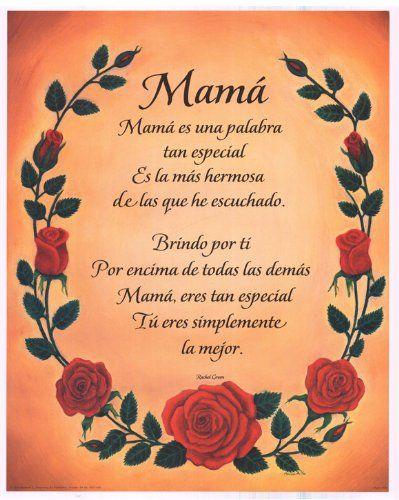 Resultado de imagen para poems for mom in spanish and english