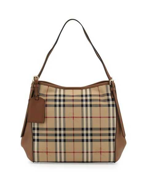 c74f51763bb7 Small Canter Horseferry Check Hobo Bag