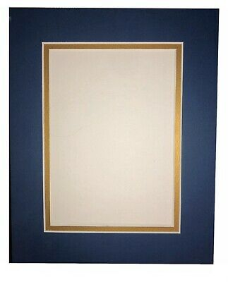 25 Pack Picture Framing Double Mats 8x10 For 5x7 Photo Navy Blue W Red Ebay Picture Frame Mat Wood Picture Frames Frame Matting
