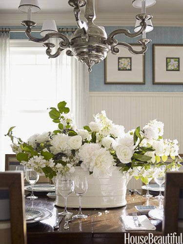 Dining Room Table Centerpieces, Formal Dining Room Flower Arrangements