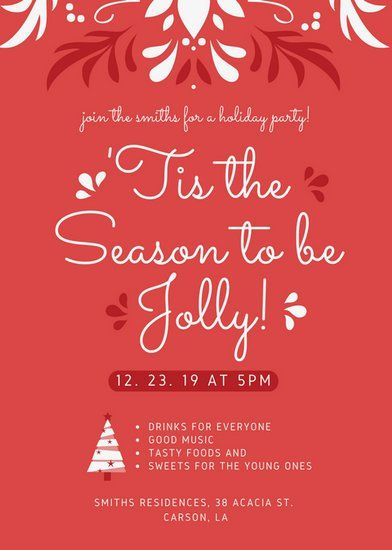 Pin By Duyenton On Holiday Season Sale Posters Holiday Party Flyer Party Flyer Christmas Flyer Template