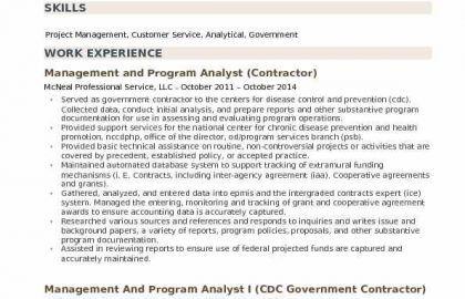 Data Analyst Resume Summary Or Management And Program Analyst Resume Samples
