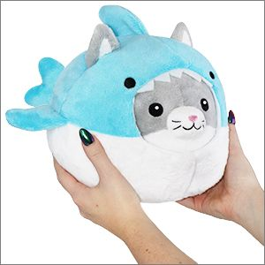 Giant Shark Plush, Undercover Kitty In Shark Squishable Plush Disguise Cat Cute Stuffed Animals Sewing Stuffed Animals Cute Toys