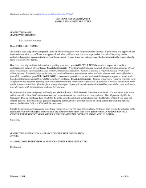 termination letter sample absence notice template without - medical leave form
