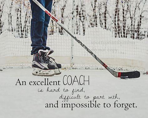 8x10 An Excellent Coach Hockey Print