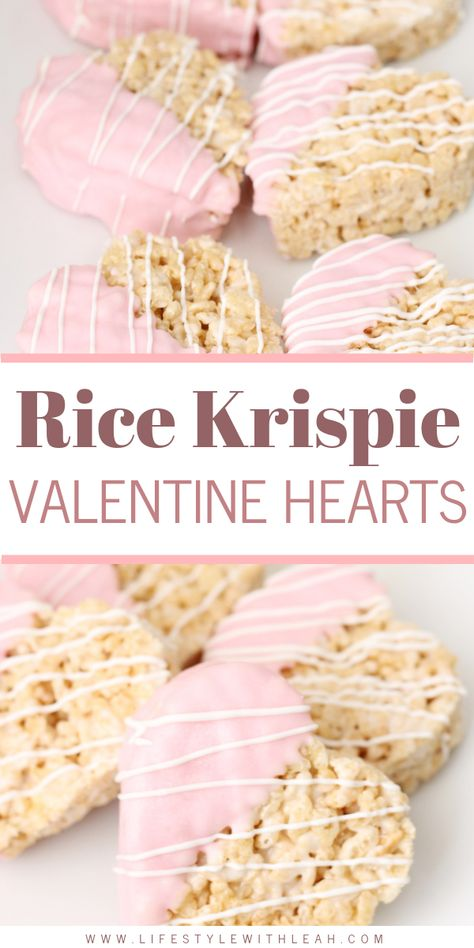 Easy Valentine's Day Treats | With the holiday season in full swing, we are sharing some easy Valentine's Day treats that are perfect for kids' parties at school or even that special someone in your life. Rice Krispie Valentine's Day Hearts The most delicious Rice Krispie Valentine Hearts are on the blog! Easy to make, yummy to eat!  #valentinesdaytreats #vdaytreats #vday #valentinesday #valentinesdayrecipes #vdayrecipes #valentinesdaydesserts #vdaydesserts #vdaykidsideas #valentinesdaykidsideas