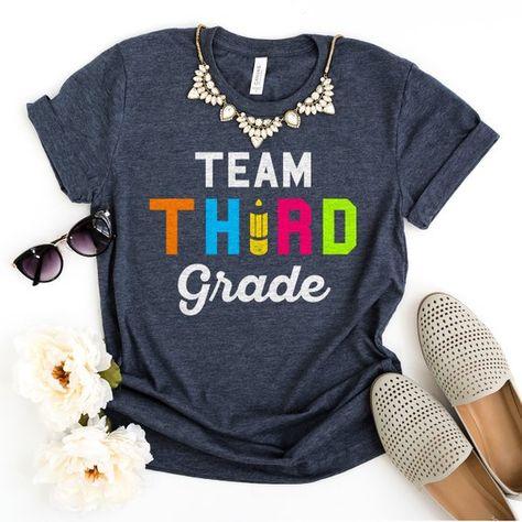 Team Third Grade 3rd Grade Teacher Teacher Shirts Teacher Gift