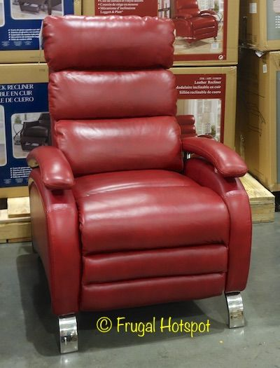 Costco Barcalounger Red Leather Pushback Recliner 399 99