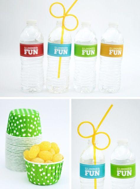 Summer Fun Water Bottle Labels -- free printable
