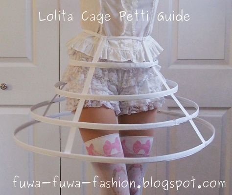 This is less of a tutorial and more of a guide to create your own cage petti for lolita fashion. It will aid you in making one exactly the.