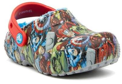 d6a99b52a Crocs Fun Lab Faux Fur Lined Avengers Clog (Toddler & Little Kid) #affiliate
