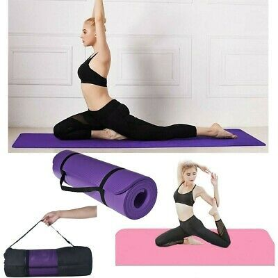 Details About 10mm Thick Yoga Mat Exercise Fitness Pilates Camping Gym Meditation Pad Non Slip In 2020 Pilates Workout Thick Yoga Mats Dancing Toys