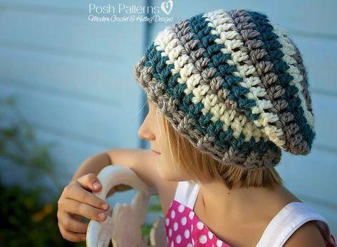 List Of Pinterest Crochet Hat For Men Pattern Slouchy Beanie Images