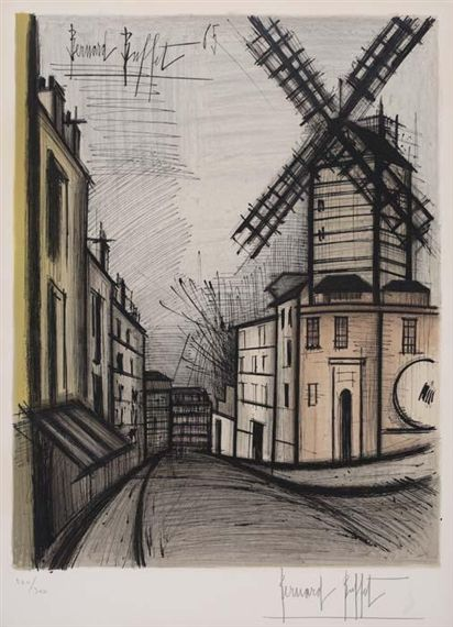 Peachy Artwork By Bernard Buffet Le Moulin De La Galette Made Of Beutiful Home Inspiration Truamahrainfo