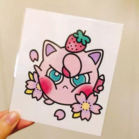 Pokemon Tattoo Sticker