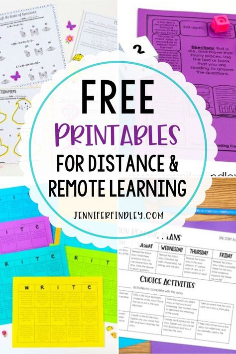 Need resources for distance or remote learning? These free printables are perfect for 4th and 5th graders who are learning at home.