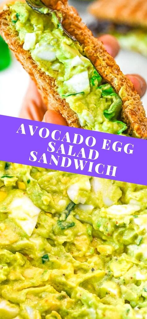 This Avocado Egg Salad is made with hard-boiled eggs, creamy avocados, tangy yogurt, and lots of herbs. So tasty, it will make a yummy addition to your meal plan. It's also easy to put together, which is great for those busy days. FOLLOW Cooktoria for more deliciousness! #avocado #eggs #salad #sandwich #breakfast #brunch #cooktoria