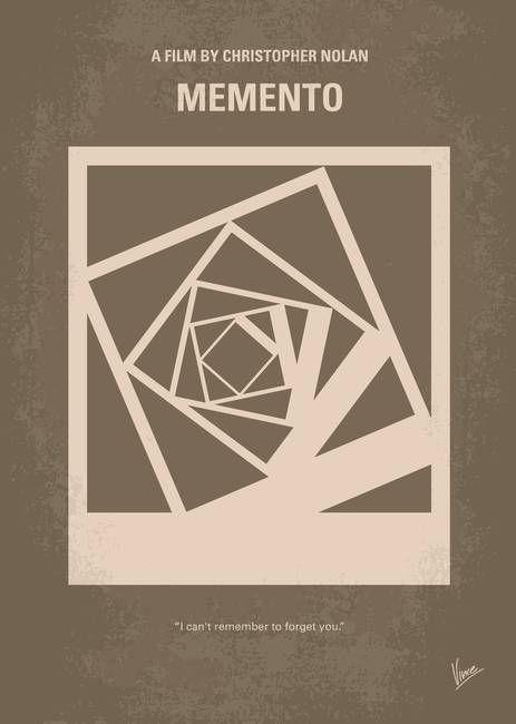 No243 My Memento minimal movie poster by Chungkong Art