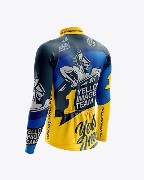 Download Men S Cycling Thermal Jersey Ls Mockup Back Half Side View In Apparel Mockups On Yellow Images Object Mockups Design Mockup Free Shirt Mockup Clothing Mockup