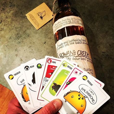 In Case You Have Been Trying To Figure It Rowans Creek Pairs Well With Exploding Kittens Rowanscreek