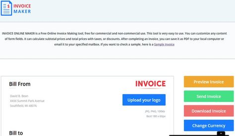 Invoice Maker crea facturas online con esta utilidad web gratuita - online invoice maker