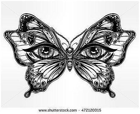 Tattoosymbolism Tattoos Beautiful Butterfly Wings With Human Eyes In Retro Flash Tattoo St Unique Butterfly Tattoos Butterfly Tattoo Designs Butterfly Tattoo