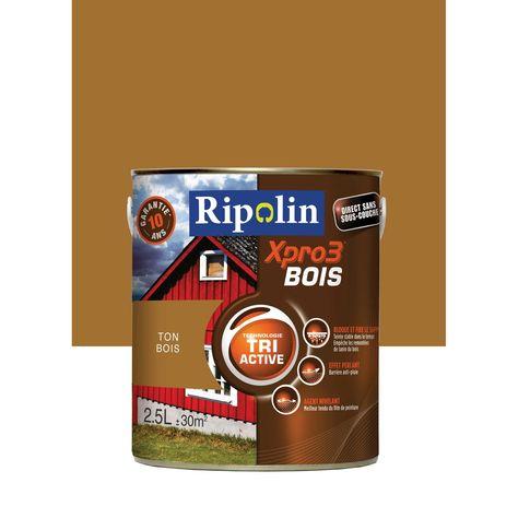 Peinture Bois Extérieur Intérieur Xpro 3 Ripolin Ton Bois