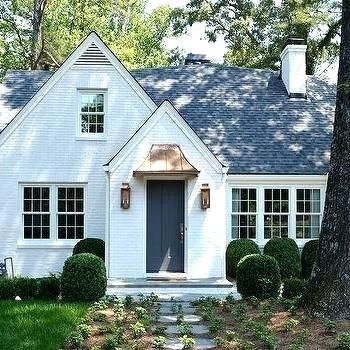 Small White Brick Homes Small Cottage House Brick Cottage Urban Cottage Cottage Style Homes Cottage Design Cottage Exterior Small House Exteriors Stucco Homes