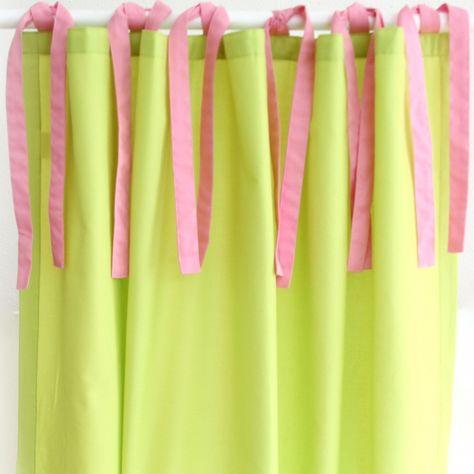 Hochbettvorhang grün mit Schlaufen