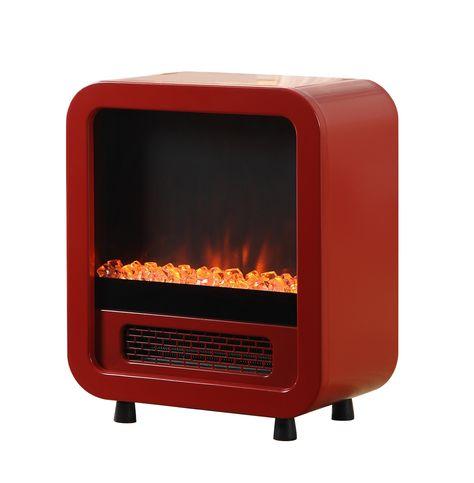 Retro Mini Stove Jetson Mini Stove Red Fireplace Red Heater Paramount Heater Paramount Stove Para Retro Stove Mini Stove Free Standing Electric Fireplace