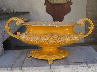 Jardinière, vasque , pot de jardin en fonte Art Nouveau ...