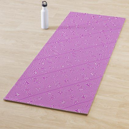 Groovy Twirl Stripes Pink Pattern Yoga Mat Zazzle Com Pink Patterns Pattern Stripes